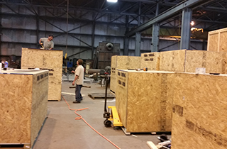 Onsite Crating | Santa Fe Industrial Packing & Crating Inc. | Chicago, IL | (847) 417-7823